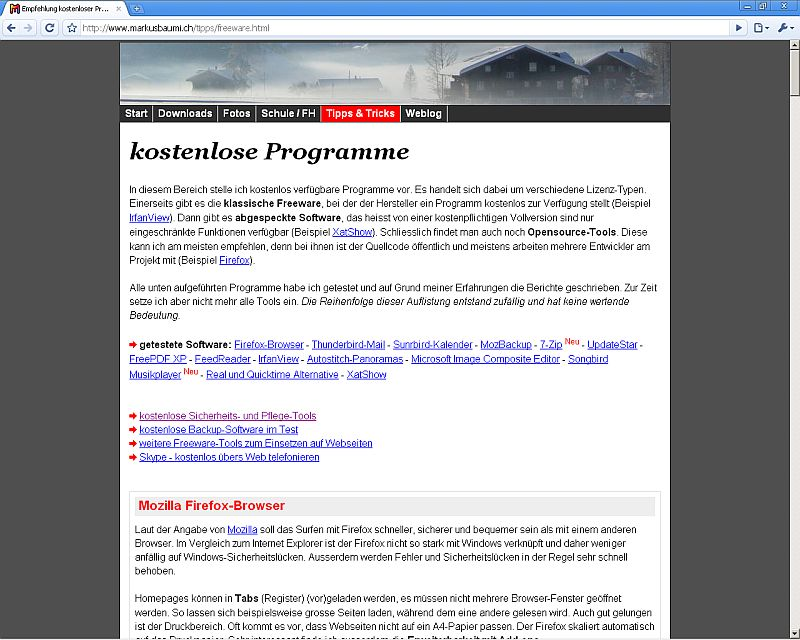 Empfehlung kostenloser Programme - All you need is free!